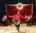 Drummers perform in the circus ring