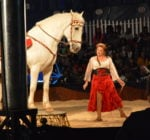 Tosca Zoppé with her horse