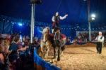 John Walther (Papino) on horseback.